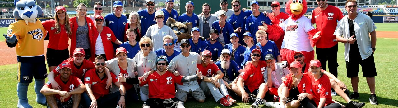 NASHVILLE, TN - JUNE 09:  Team Grand Ole Opry poses for a photo before  at the 28th Annual City of Hope Celebrity Softball Game on June 9, 2018 in Nashville, Tennessee.  (Photo by Rick Diamond/Getty Images for City Of Hope)