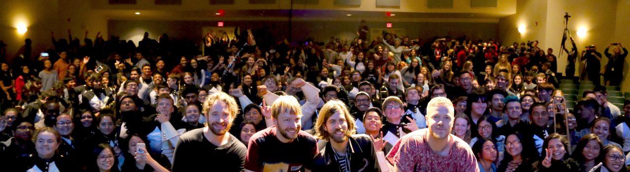 Imagine Dragons at Clark High School for Toyota_VH1 Grant Presentation