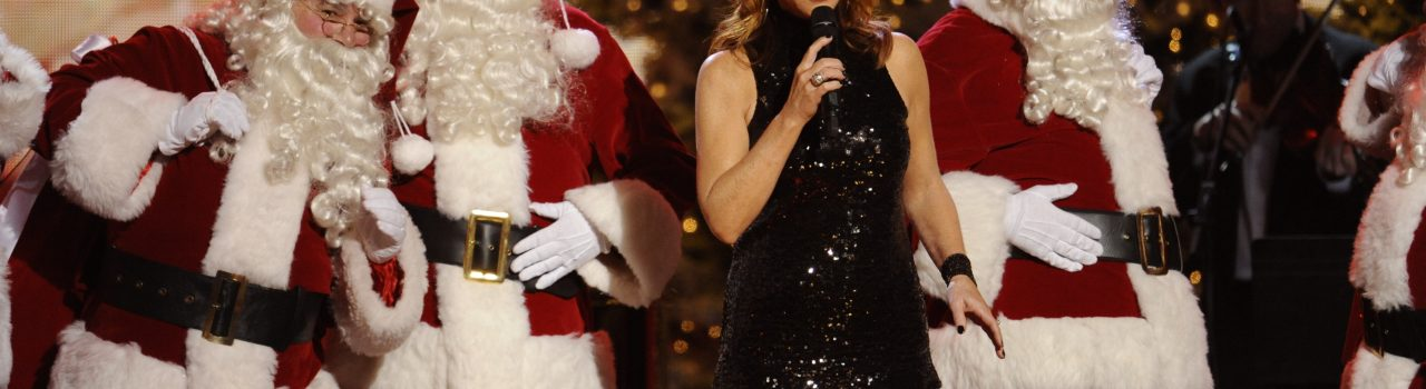 "Reba McEntire performs ""Santa Claus Is Coming To Town"" at ""CMA Country Christmas,"" airing Monday, Nov. 29 (9:30 – 11:00 PM / ET) on the ABC Television Network. The holiday special was taped on Nov. 11 at Bridgestone Arena in Downtown Nashville."