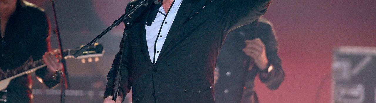 "Eddie Montgomery performs ""My Town"" at the 51st annual CMA Awards at the Bridgestone Arena on Wednesday, Nov. 8, 2017, in Nashville, Tenn. (Photo by Chris Pizzello/Invision/AP)"